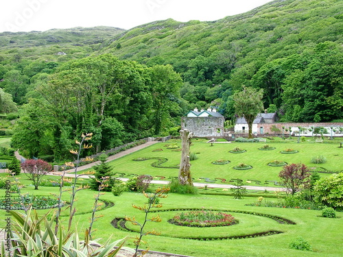 In de dag Lime groen Victorian Walled Garden of Kylemore, Ireland