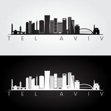 Tel Aviv Skyline And Landmarks...