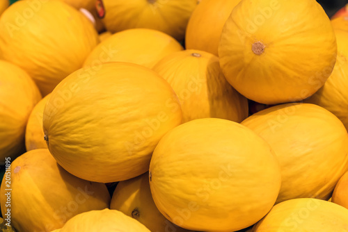 yellow melon texture