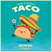 Vintage Mexican Food Poster De...