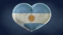 Cuore Bandiera Dell'Argentina.