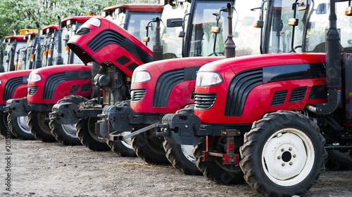 many tractors on the farm