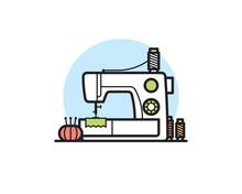 Sewing Machine Vector Illustration