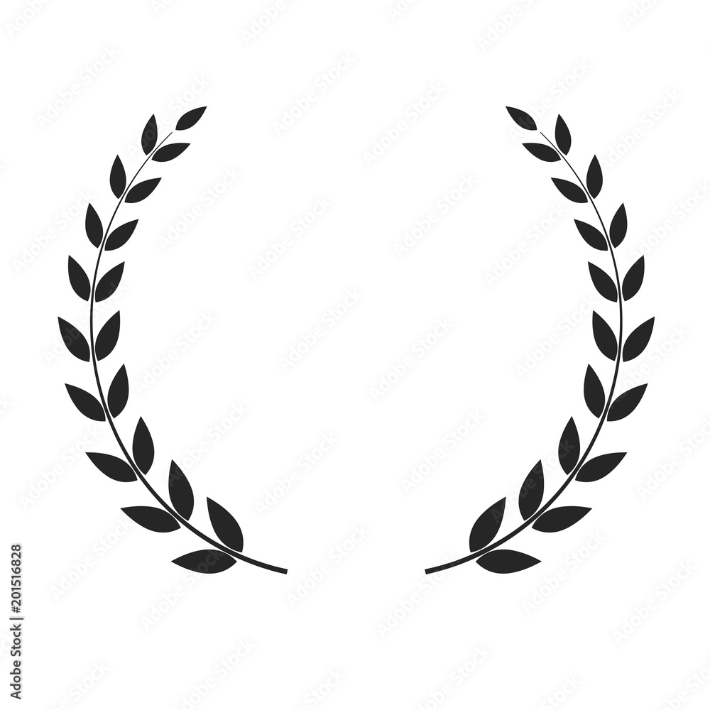 Fototapeta Vector laurel wreath isolated on white background