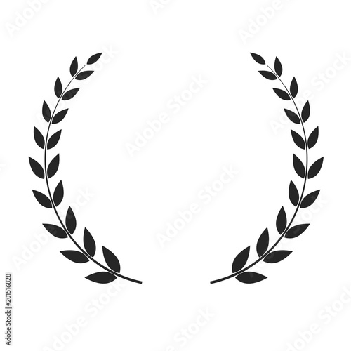 Photo  Vector laurel wreath isolated on white background