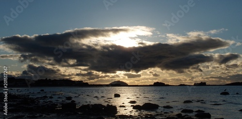 Canvas Print Sunset over Ailsa Craig