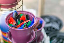 Colorful Plants Pots