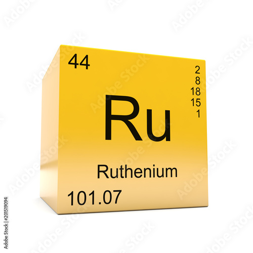 Ruthenium Chemical Element Symbol From The Periodic Table Displayed