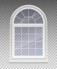 Closed Arched Window With Tran...