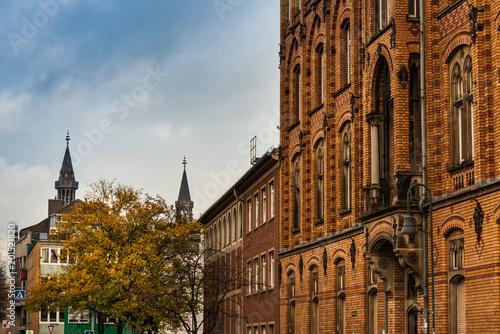 Foto op Aluminium Oude gebouw old Town buildings in Aachen, Germany