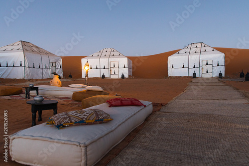 Luxury Desert Camp in Sahara