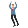 Happy businessman cartoon vector illustration graphic design