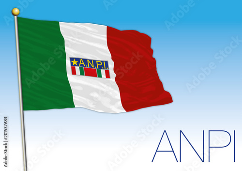 Poster  Italy, Anpi flag, historical association