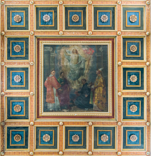 Photo Apotheosis of Saint Lawrence by Mometto Grutter, in the Basilica of Saint Lawrence in Lucina in Rome, Italy