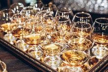 Stylish Glasses With Cognac Or...