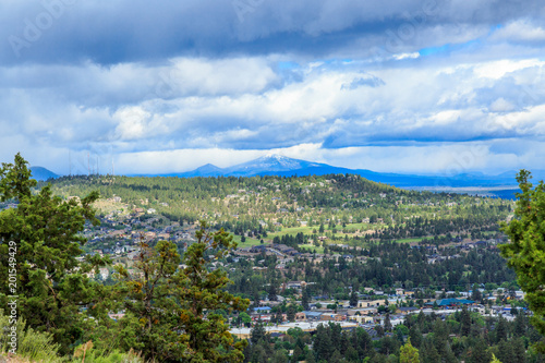 North America, United States, Oregon, Central Oregon, Redmond, Bend, View from Pilot Butte State Park Canvas Print