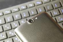 Cellphone Digital Camera. Smartphone Camera Lens Closeup