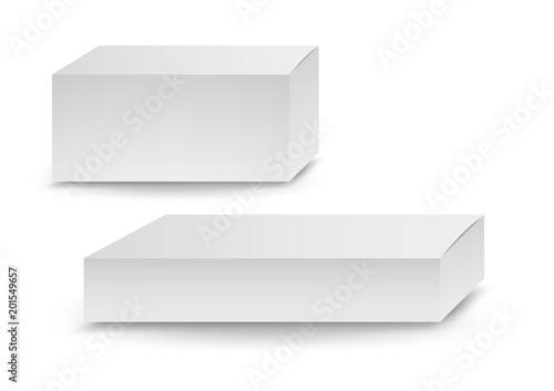 Fotografie, Obraz  White boxes, Package, 3d box, product design,Vector illustration.
