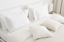 Comfortable Soft Pillows On Th...