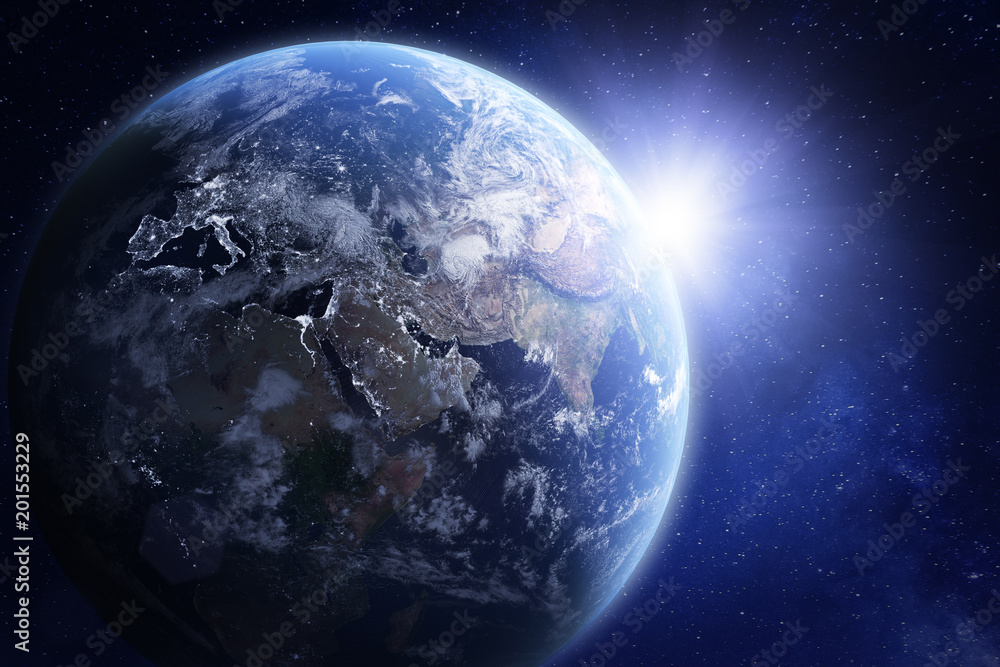 Fototapety, obrazy: 3D render of planet Earth from space, elements from NASA