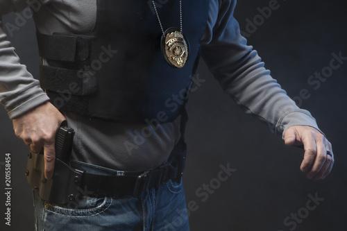 Photo  Law Enforcement Agent Studio Shoot 8