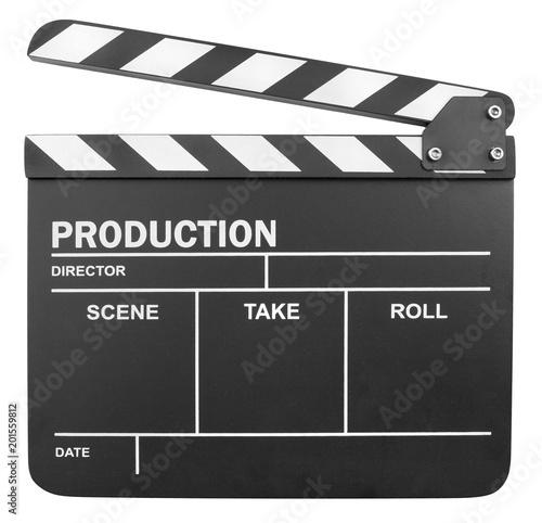 klaps-filmowy-na-bialym-tle
