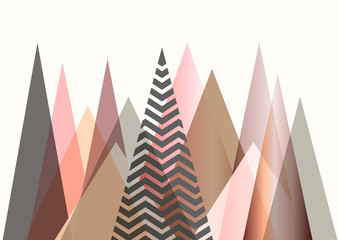 FototapetaAbstract mountain landscape in Scandinavian style design