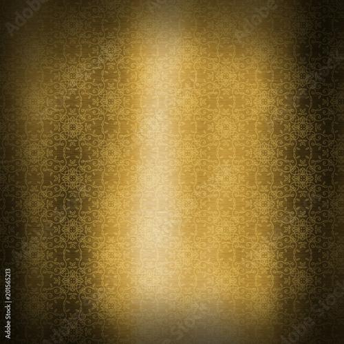 Fotografie, Obraz  Gold metallic texture background with decorative pattern design