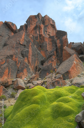 Papiers peints Cappuccino Rocas rojas, altiplano