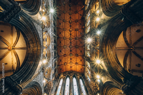 Fototapeta  The main hall dome of Glasgow Cathedral, also called the High Kirk of Glasgow or St Kentigern's or St Mungo's Cathedral Glasgow, Scotland, United Kingdom