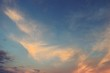 Beautiful blue sky at sunset,Horizon began to turn orange with purple and pink cloud