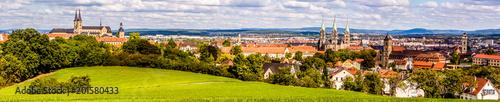 Stadtpanorama Skyline Bamberg,Franken Fototapet