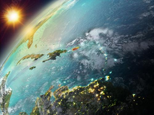 Keuken foto achterwand Nasa Puerto Rico on planet Earth in sunset
