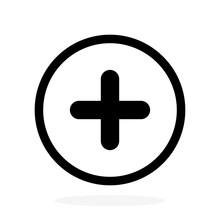 Plus Vector Icon, Add Symbol. ...