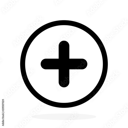 Fotomural  Plus vector icon, add symbol. Health sign