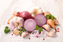 Assorted Garlic And Onion