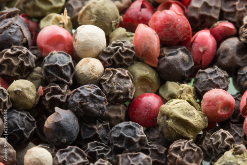 Keuken foto achterwand Macrofotografie close up of pepper spices