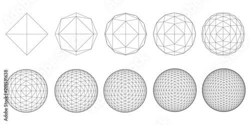 Fotografía  Set with spheres