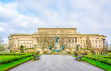 Saint George Hall In Liverpool Viewed From St. John's Gardens, England