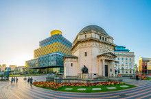 Hall Of Memory, Library Of Birmingham And Baskerville House, England