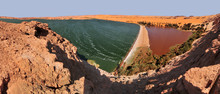 Saline Ouniaga Kebir  Lake In The Sahara Desert, Chad