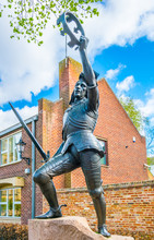 Statue Of Richard III In Front Of The Cathedral In Leicester, England