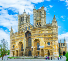 View Of The Lincoln Cathedral, England