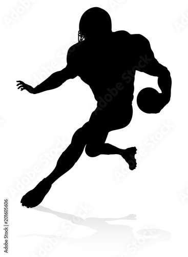 American Football Player Silhouette Canvas Print
