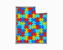 Utah UT Puzzle Pieces Map Work...