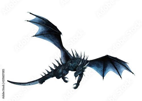 Fototapeta premium 3D Rendering Fairy Tale Dragon na białym tle