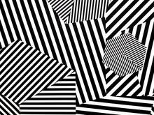 Black Striped Pattern On The W...