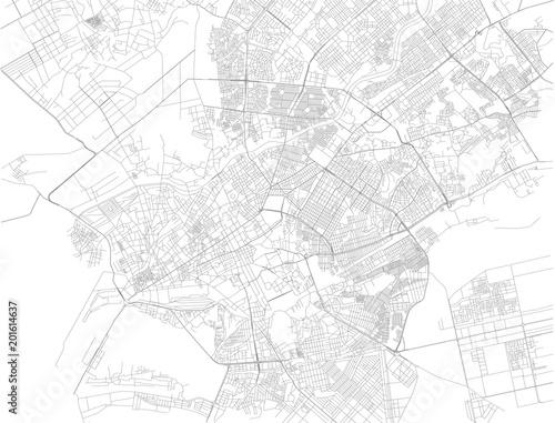 Map Of Asia Karachi.Mappa Di Karachi La Capitale Della Provincia Pakistana Del Sindh