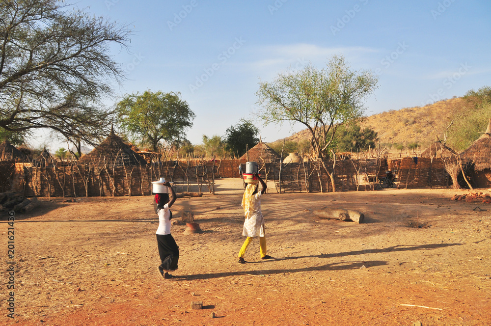 Village on the area of the Sahel in North Chad