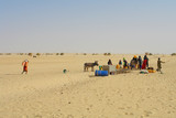 Water well  on the Sahara desert    in Northen Chad